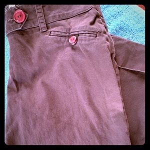 Hot Kiss Brown Capris Size 3